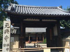 興福寺から徒歩で元興寺へ。ならまちへの途中ですね。 こちらのお寺は中に宅内の五重塔があるのです。ミニチュアっぽいといえばそうですが、見どころです。 また、飛鳥時代の瓦が一部実際に使われています。すごい!天平の甍どころではないのです!ロマンです。