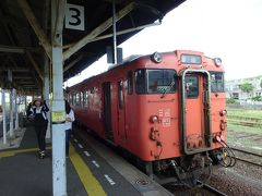 この列車は長門市駅で終点です