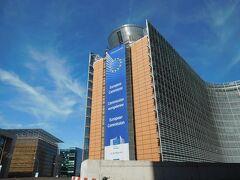 ブリュッセルに到着しました☆ こちらかの有名なEU本部です!! ただ通り過ぎただけ。 見学スペースとかあるのでしょうか?