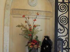 ベーリック・ホールのハロウィン飾り  玄関ホールの飾りつけ