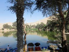 砂漠の中のオアシス ワカチナ湖