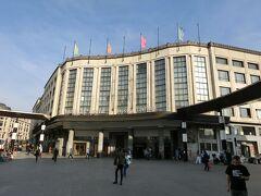 ブリュッセル中央駅。 先日テロがあったためか、警備が厳重だった。