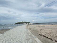青島というけど、普通に道路でつながっていて歩いて行けます