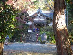 公時神社で登山の安全を祈念して。