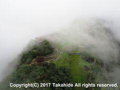ウチュイピチュ(Huchuy Picchu)  山頂からのチェックポイント付近の眺めです。
