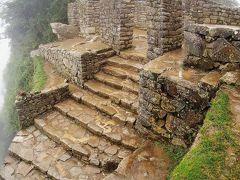 太陽の門(Intipunku)  マチュピチュ(Machu Picchu)の東端に位置する門です。 ここも前回来れなかった場所の一つ。二つ目の目的達成。   太陽の門:https://en.wikipedia.org/wiki/Inti_Punku