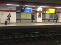 乗り継ぎが6時間近くあるので、グランプラス観光に行きます。 地下から電車に乗って移動です。