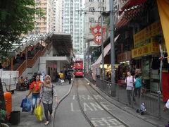 MTRの駅付近、トラムの引込み線があります。
