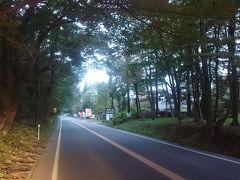 東北道を那須ICで下り《那須高原》を走ります。幹線道路にあたる県道17号線は「那須街道」とも呼ばれ、写真のように木々に囲まれた通りを走り抜けるので、運転していてとても気持ちが良いです。  土日祝は渋滞するようですが、この時はまだ早朝5時半過ぎでガラガラでした。