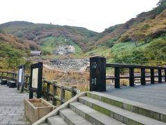マウントジーンズ那須から那須温泉へ戻ること15分、《殺生石》に来ました。早朝に訪れた那須高原観光案内所や那須温泉神社のすぐ近くにあります。こちらも去年の正月旅行で来たので、今回は再訪です。