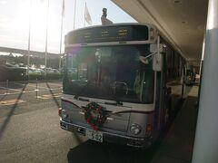 ホテルからディズニーリゾートクルーザーでJR舞浜駅まで乗車します。