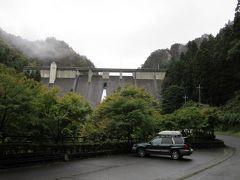 「道平川ダム」から「大仁田ダム」にやって来ました 「道平川ダム」から「大仁田ダム」は直線距離だと南に10km程の距離ですが、道のり的には一旦下仁田市街を経由する必要があり26km程の道のり