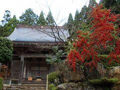 石道寺本堂の紅葉