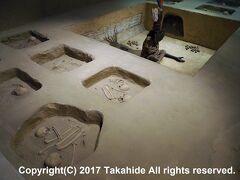 国立シカン考古学博物館(El Museo Arqueologico Nacional Sicán)  西の墓です。両側に義手が埋葬されています。  国立シカン考古学博物館:https://ja.wikipedia.org/wiki/%E3%82%B7%E3%82%AB%E3%83%B3%E5%8D%9A%E7%89%A9%E9%A4%A8 国立シカン考古学博物館:https://www.facebook.com/Museo-Nacional-de-Sican-109965152373661/