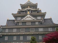 烏城とも呼ばれる岡山城🏯 別名通り漆黒の黒さ、あまり見ない色味 早速中へ🚶 後楽園との共通券で560円👛