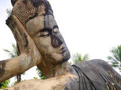 ブッダパーク到着! パーク内で一番大きい涅槃像。