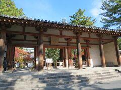 近鉄奈良から乗り換えて来ました 鑑真の唐招提寺へ 西ノ京駅からちょっと歩きます