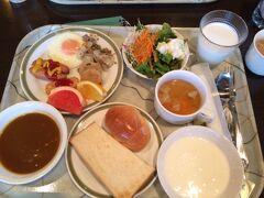 この日宿泊したホテル白馬の朝食です