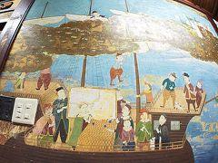 【鯛よし百番、大正時代の置屋で、歴史を偲ぶ】  これは、オランダ商船......でしょうか.....?