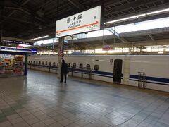 早朝の新幹線で新大阪にやってきました。