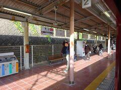 東山駅2番線ホーム。