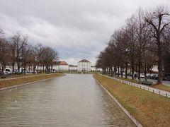 12駅(20分弱ぐらい)乗り「Schloss Nymphenburg」駅で降りると、すぐ横にある橋からこんな風景が(´▽`*)