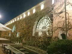 アイビースクエアの広場 倉敷紡績所を再開発した複合施設 ホテルやショップなどが入ってます