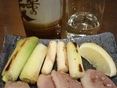 新幹線に乗る前に軽く一杯。