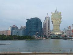 金色の特異な外観のビルは、2007年2月にカジノがオープンした「グランド・リスボア・マカオ(Grand Lisboa Macau)」