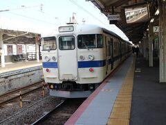 下関駅到着。車内は空いていた。