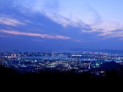 鷲羽山からキラキラ輝く水島コンビナートの夜景を見て帰る
