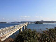 せっかく来たので角島へ渡り、島側からの角島大橋。 橋を渡り切ってすぐ左側にある「瀬崎陽の公園」から。