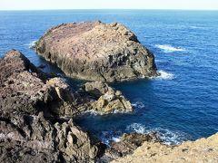 """元乃隅稲成神社は断崖に面していて、「龍宮の潮吹」と呼ばれる海水が吹きあがる名所となっています。 この日は波が穏やか過ぎて""""潮吹き""""は見られませんでした。"""