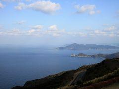 日本海と青海島を望む景色は、なかなかのもの。 靄が掛かってますが、くっきり見える日はより一層綺麗な景色が見られるものと思います。