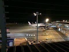 夜の空港は昼間とは雰囲気が違って新鮮です。