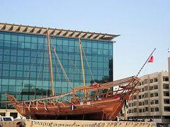 ドバイ博物館に飾られた船の模型