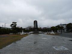 久里浜のペリー公園にあるペリー上陸記念碑