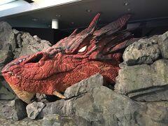 一泊して、翌日飛行機でオークランドへ。 ウェリントンの空港では、ホビットの龍がいました。