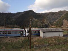 鹿賀駅到着です。