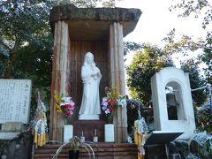 謡坂を少し外れたところに、聖母マリア像がありました。かつてこの地に多くの隠れキリシタンが住んでいたことから、建立されたそうです。中山道沿いにキリスト教の史跡が存在するとは思っておらず、驚きました。
