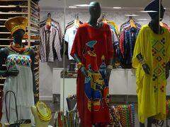 到着フロワーには、アフリカらしい店舗が