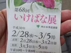 2018年3月4日(日)福岡へ移動します。事前に小倉駅前の金券ショップで特急乗車券を購入してあります。1320円。他のお店は1340円でした。高速バスだと 天神に行ってしまうので、荷物が邪魔になります。40分で博多に着くのでバスの半分の時間で、時間の節約になります。正規の値段は1800円ですから金券ショップはお得です。  博多駅前の定宿ホテルに荷物を置いて、100円バスで天神へ。偶然入った大丸で、いけばな展をやっていました。入場料金1000円は高い。横断歩道を渡った金券ショップに行ってみました。1枚300円。3枚残っていて、期限が近いからと、3枚で300円にしてくれました!