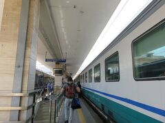 サレルノ駅に到着!