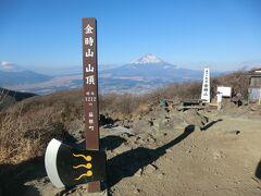 9:00 うおぉぉ! 公時神社から1時間3分。 金時山(1212m)の山頂に到着です。