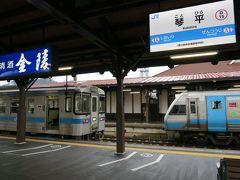 土讃線の電化区間は琴平までで、琴平駅で阿波池田行きのディーゼルカーに乗り換えます。