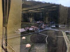 天国に一番近い駅宇都井駅前田んぼに設けられたイルミネーション。