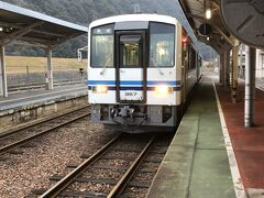 石見川本から翌朝始発に乗りました。