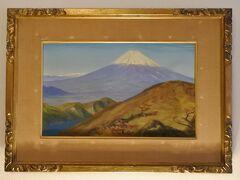 富士山の絵。