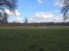 英国庭園.かなりの広さがあり,市民の憩いの場になっている.