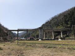 三江線の名物駅、宇都井駅 この周辺は歩き鉄ぽい人が多かった
